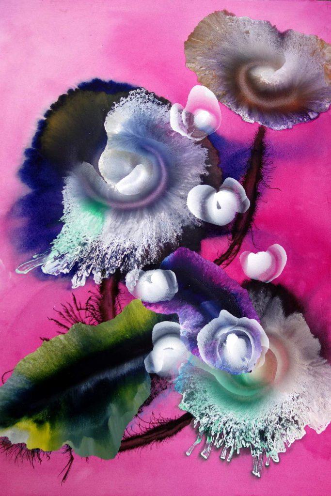 Reinoud van Vught, Zonder Titel, 2017, acryl op papier, 80 x 92