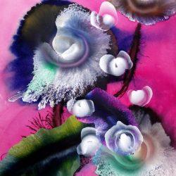 Reinoud van Vught, Roze, Acryl op papier, 82x90cm